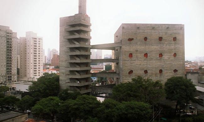 SESC Pompéia, Lina Bo Bardi's social and cultural centre in São Paulo. Public Domain