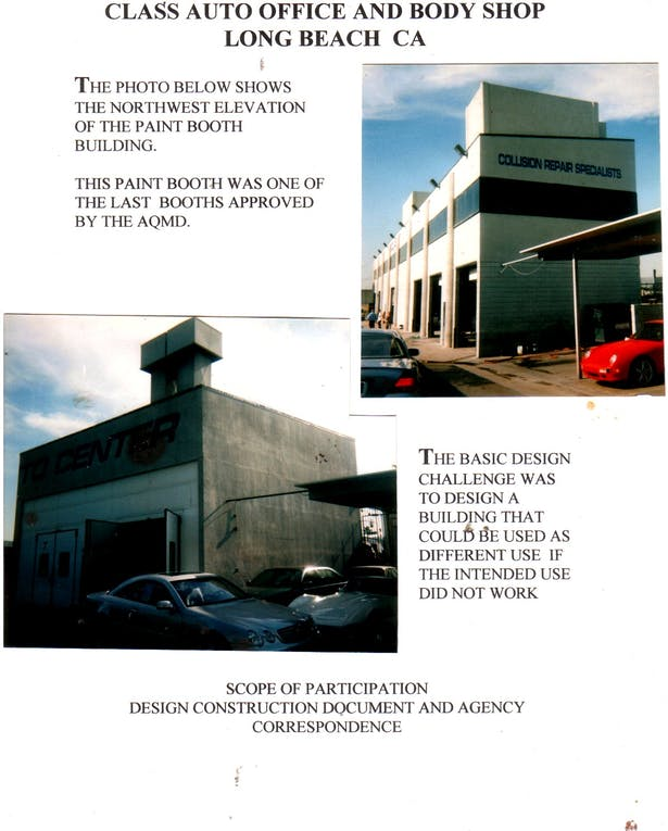 Automotive Stall and Paint Booth Building