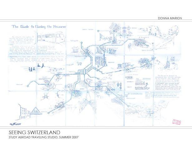 Seeing Switzerland - hand-drawn map