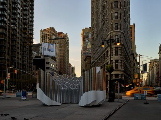 """Flatiron Reflection"" by Future Expansion Architects. Photo: Noah Kalina."