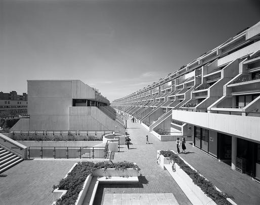 Now listed architectural heritage, the ambitious Alexandra Road Estate in Camden, London ultimately ended Brown's career. Image courtesy of RIBA.