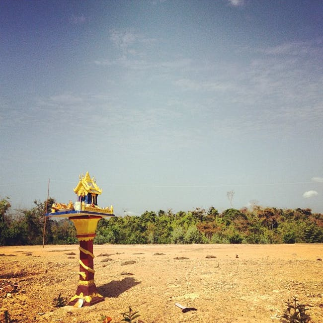 Spirit House for a Future Home. Laos via Matthew Geldin