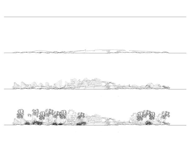 Elevation topography diagram