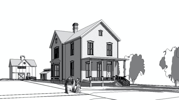 Perspective Image of Model - Main Entrance