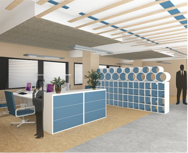 Office layout view