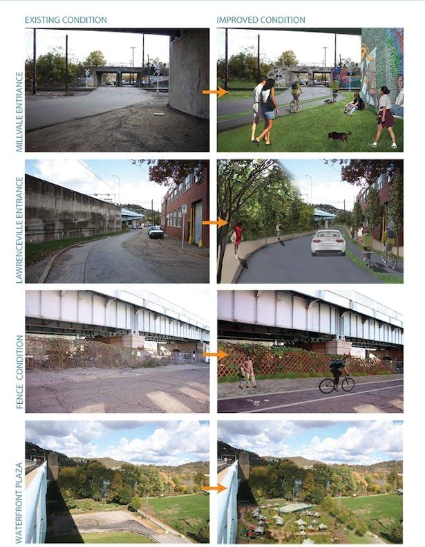 Proposal to beautify the bridge entrances
