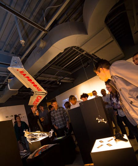 At the 'Air Rights' exhibition. Photo by Mark Gjukich, courtesy Taubman College of Architecture and Urban Planning