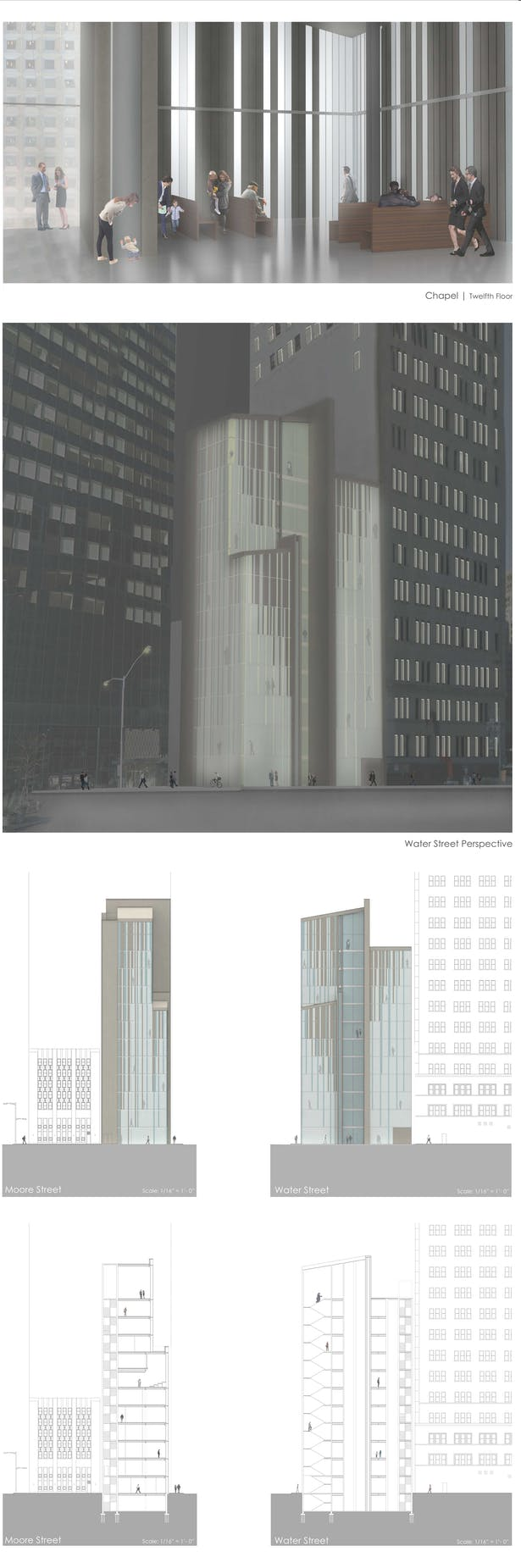 URBAN: Perspectives + Section / Elevations
