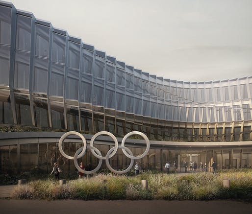 Olympic House: this is what the new IOC Headquarters will look like once finished. Image: Forbes Massie, courtesy of 3XN.