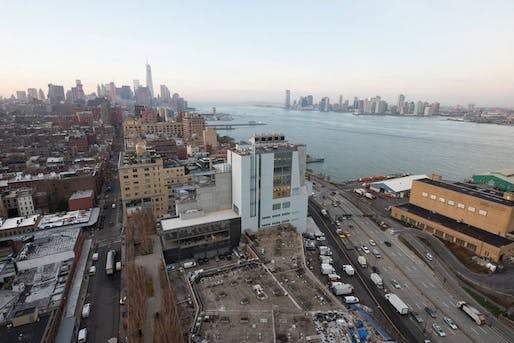The Whitney's new location, situated in Manhattan's Meatpacking District. December 2014. (Photo: Timothy Schenck; Image via whitney.org)