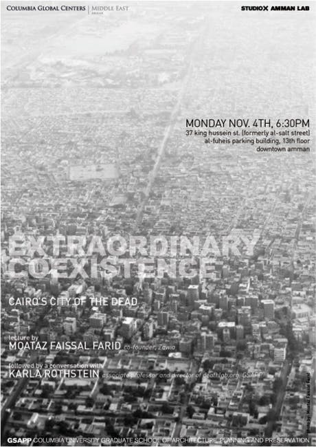 GSAPP K.Rothstein's studio is traveling to Amman this week to research burial practices in highly dense urban environments. http://bit.ly/1crkaMu