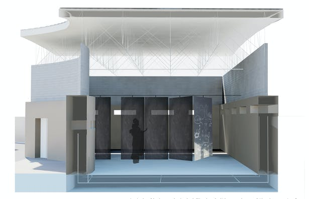 This is a rendering of what the inside of one of the classrooms would look like.