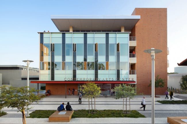UC Irvine Contemporary Arts building, photo by Lawrence Anderson/ESTO, courtesy of Ehrlich Architects.