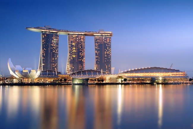 Marina Bay Sands in Singapore. Photo by Someformofhuman via Wikipedia.