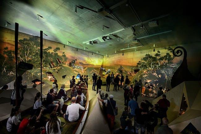 West Coast Stories exhibition. Photo: Mike Bink.