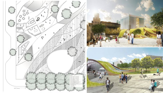 An image from the proposal by Brooks + Scarpa Architects. Credit: Brooks + Scarpa Architects via City of Los Angeles