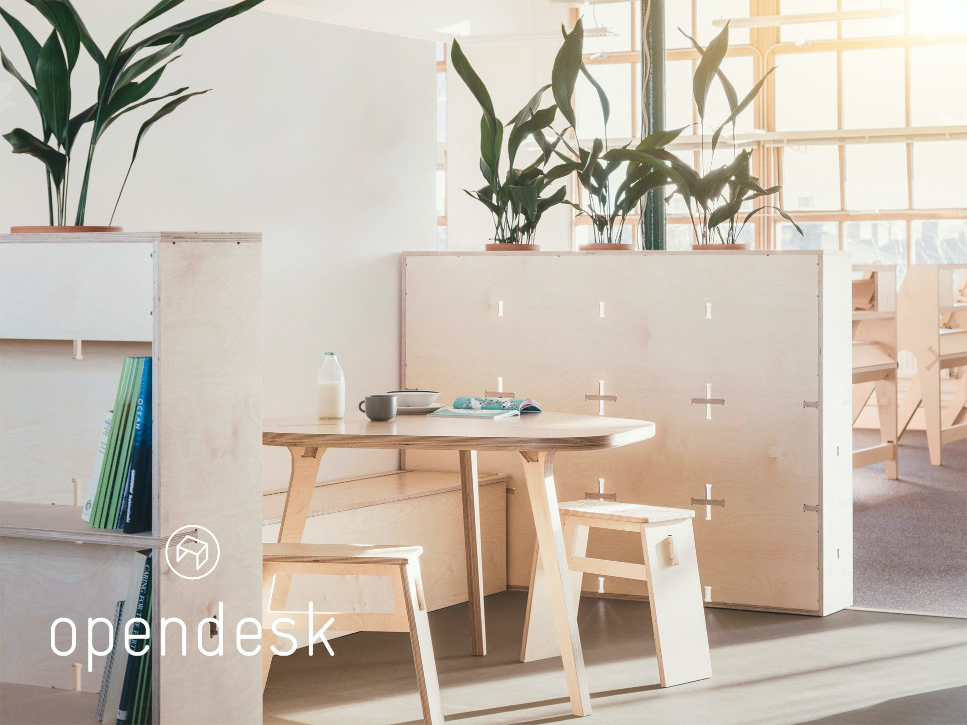 The Greenpeace offices with furniture designed by