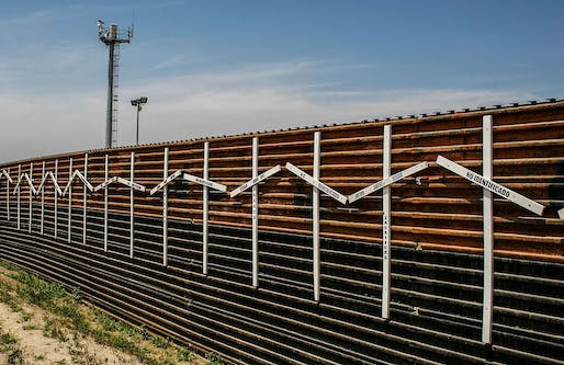 Border wall at Tijuana and San Diego border Image via wikimedia
