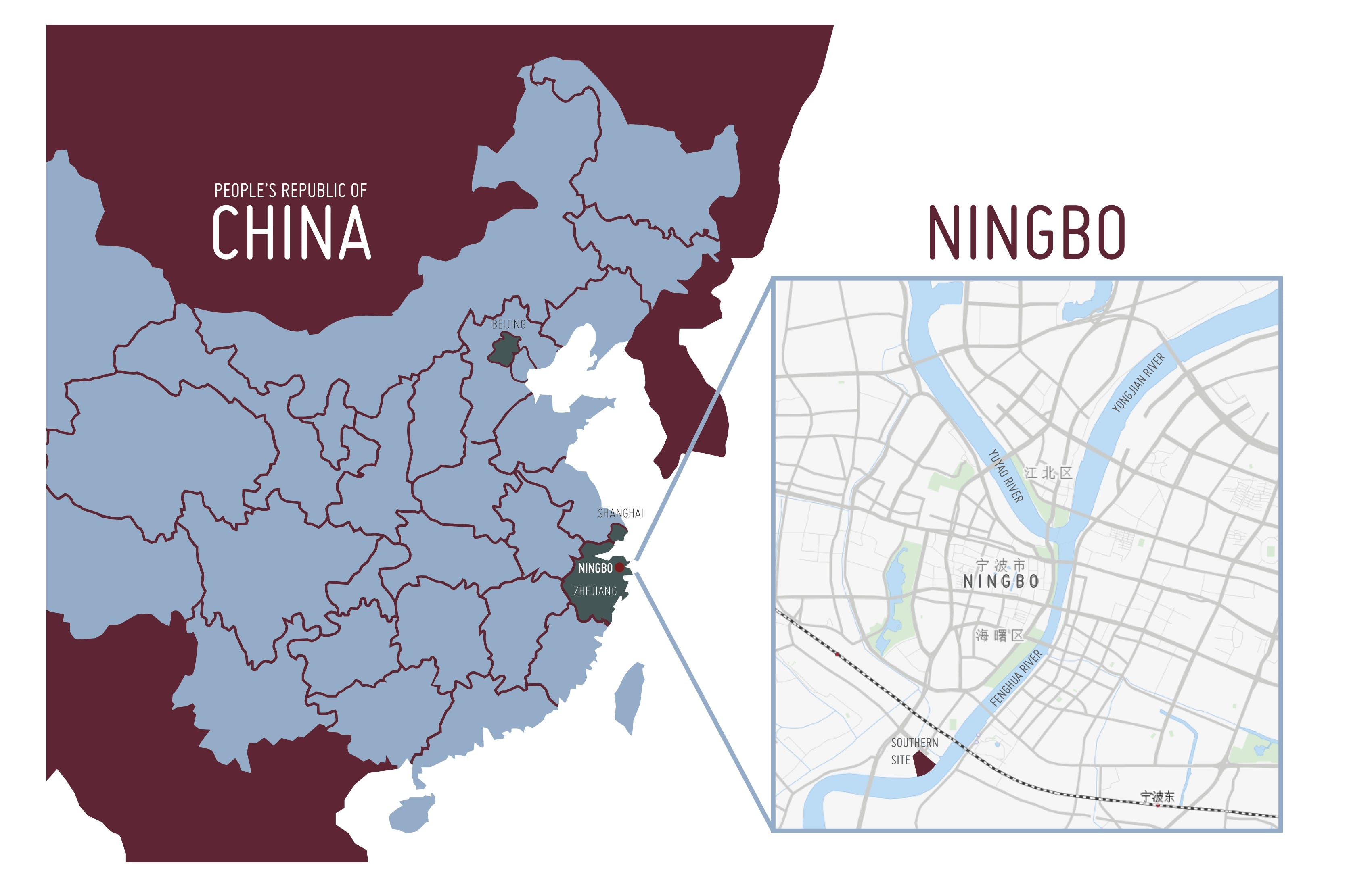 Ningbo Design Institute Ana Gonzalez Archinect - Fenghua map
