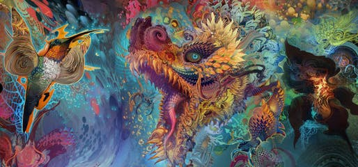 Android Jones, Humming Dragon, 2014, digital painting