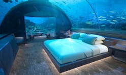 This underwater residence is currently being built in the Maldives