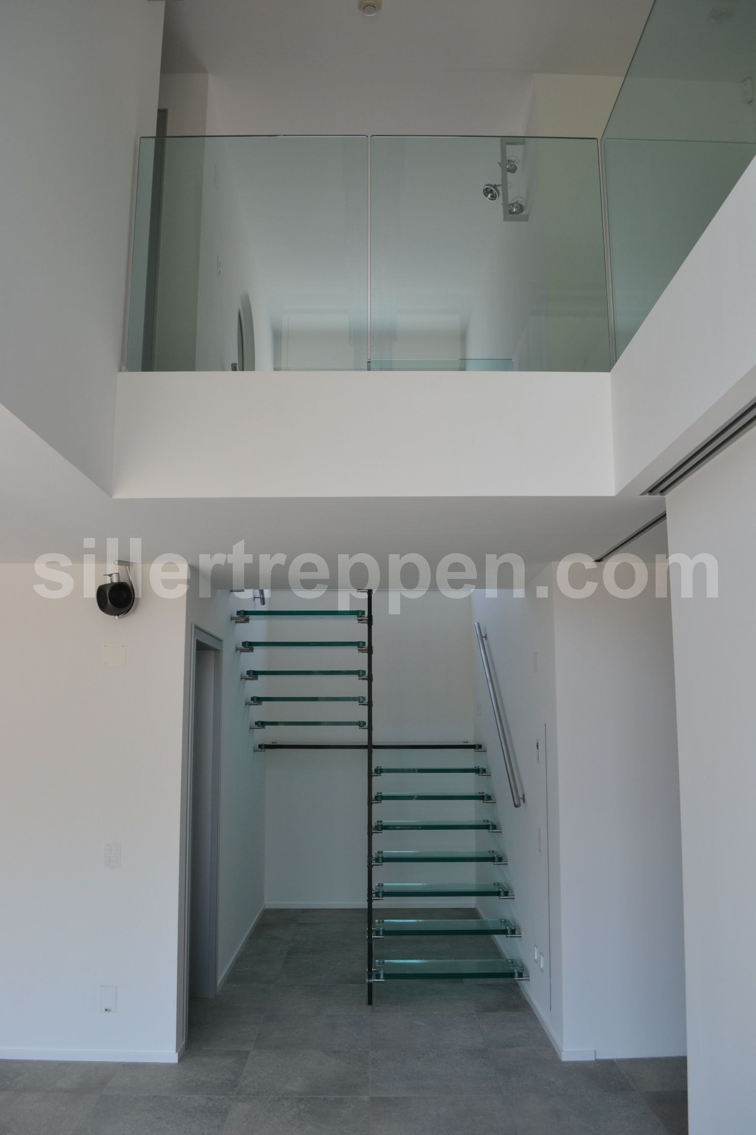 Floating Glass Stair