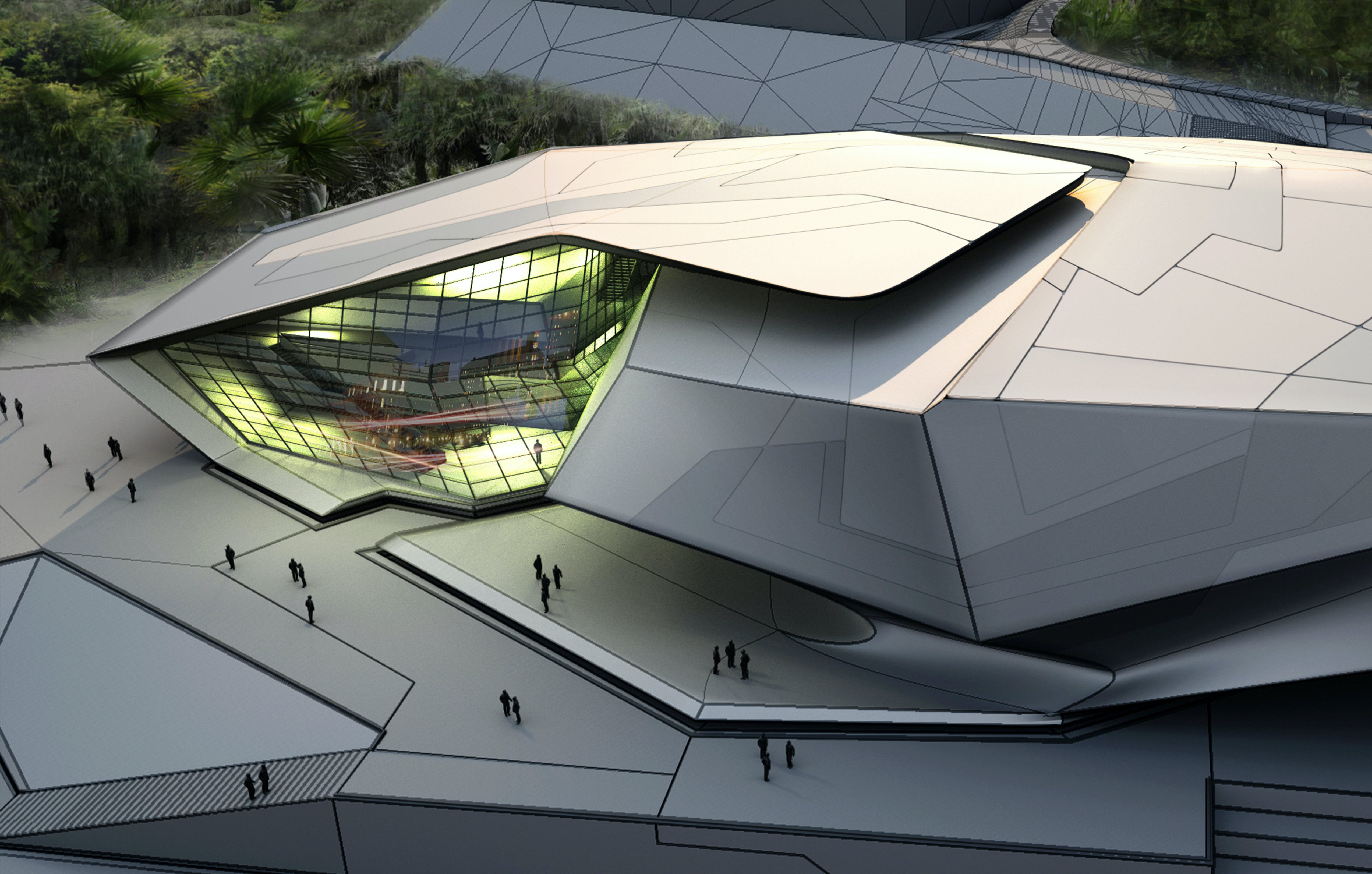 Chinese university of hong kong sports complex tom wiscombe architecture inc archinect for Sports complex planning design