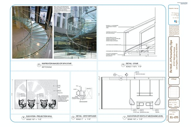 EL-05 Interior Elevations, Details + Project Stair Ideas