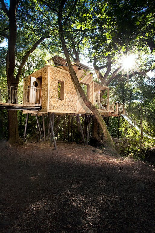 Woodsman's Treehouse by Brownlie Ernst and Marks Limited - Thorncombe, Dorset, England. Photo: Sandy Steele Perkins.