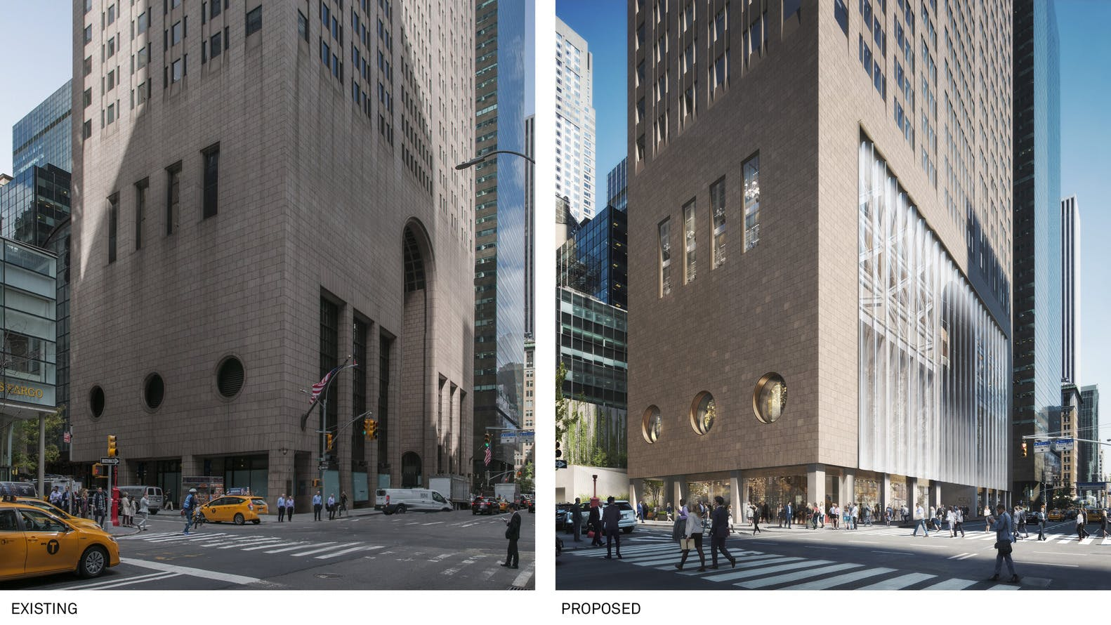 Comparison of existing and proposed street level views