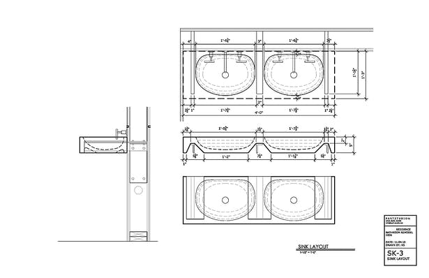 sketch used for fabrication