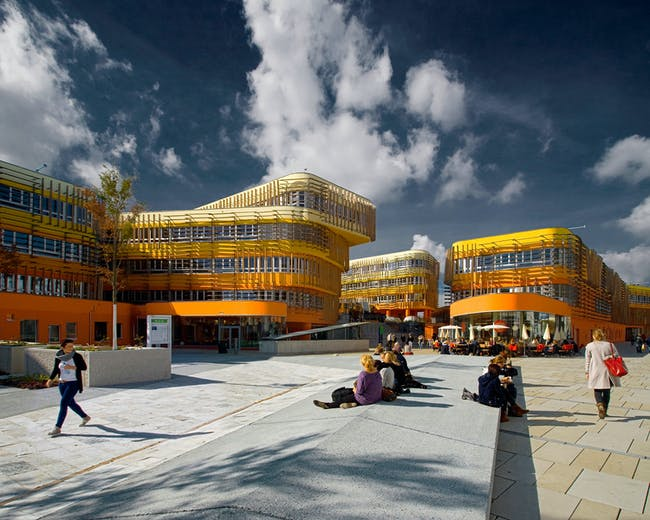Colour Prize: Departments of Law and Central Administration, Vienna University of Economics and Business, Austria, designed by Cook Robotham Architectural Bureau