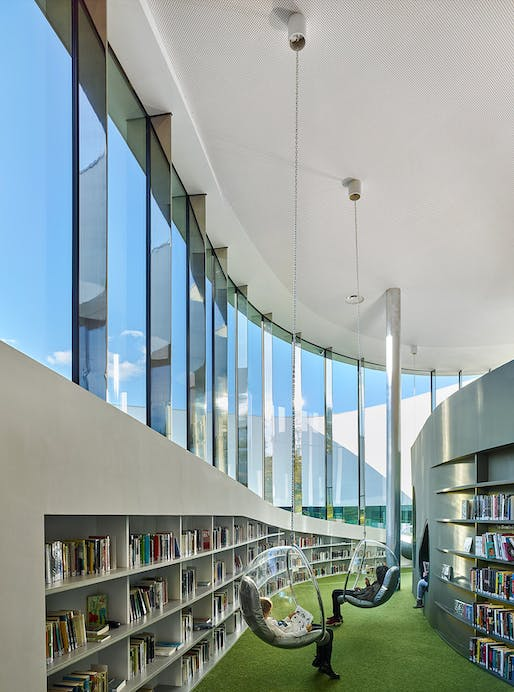 Media Library [Third-Place] in Thionville, France by Dominique Coulon & associés; Photo: Eugeni Pons, David Romero-Uzeda