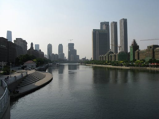 Tianjin waterfront in 2014. Photo: Caitriana Nicholson, via Flickr.
