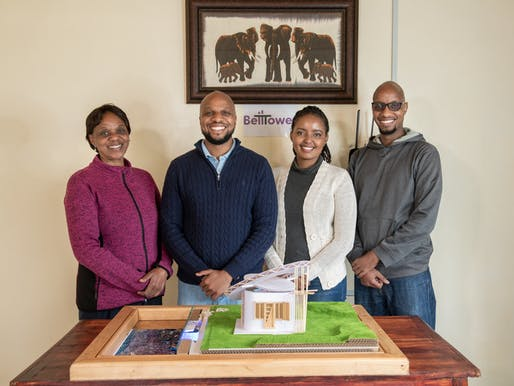 BellTower team members: John Brian Kamau, Joyce Wairimu Gachiri, Ian Githegi Kamau, Esther Wanjiku Kamau and Arvin Booker Kamau. Image courtesy of Lexus Design Award