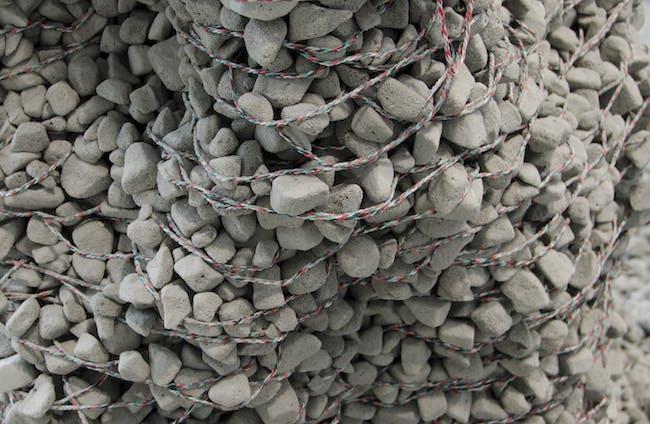 Gramazio Kohler Research, ETH Zurich (Zurich, Switzerland) + Self-Assembly Lab, MIT (Cambridge, Massachusetts, US) Rock Print, 2015 Photo Steve Hall, Copyright Hedrich Blessing Courtesy of the Chicago Architecture Biennial