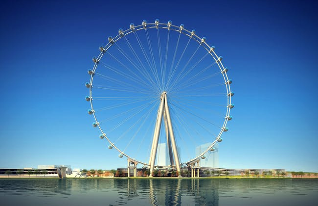 Rendering of the proposed observation wheel for Staten Island. (Rendering: @S9 Architecture/Perkins Eastman; Image courtesy of The New York Wheel)