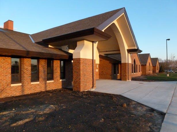 Parish Center Entry