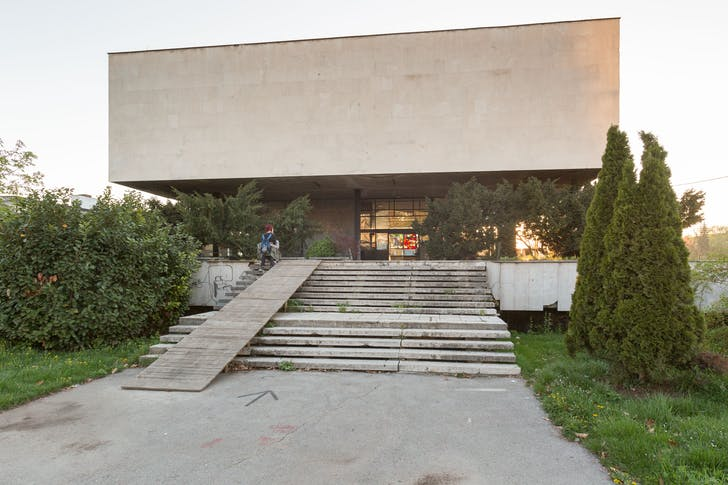 An improvised ramp at the entry to the Historical Museum, 2016. © Daniel Schwartz/U-TT at ETH