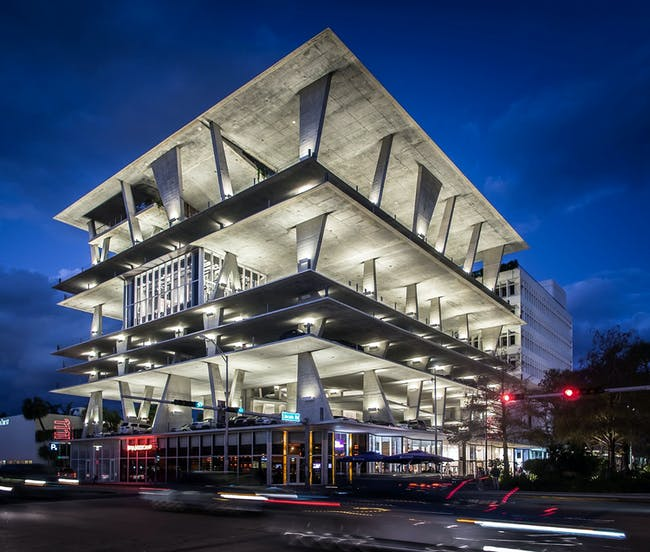 1111 Lincoln Road in Miami, Florida, by Herzog & de Meuron. Image courtesy of the MCHAP.