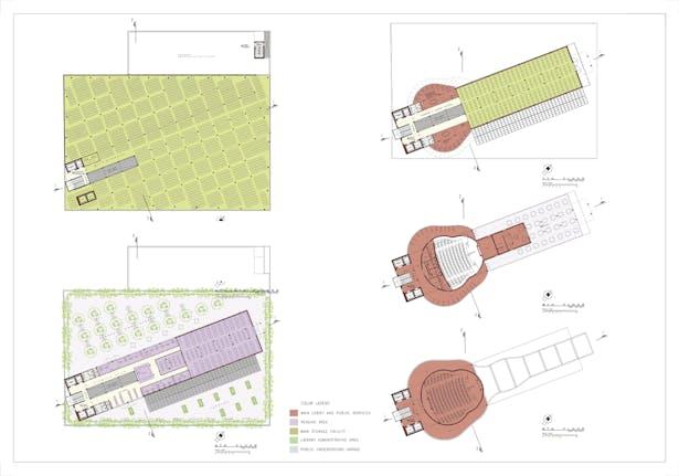 Board 4: Floor plans, levels 4-9