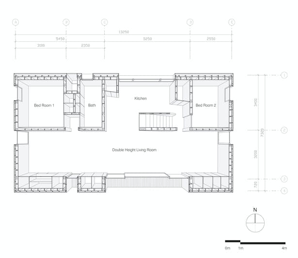 Shear House by stpmj, 1st Level Floor Plan