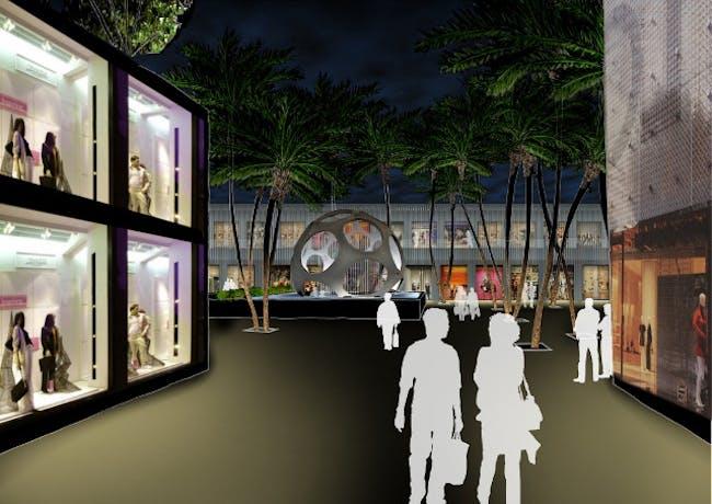 View on Palm Court. Image courtesy of Nadine Johnson & Associates, Inc.