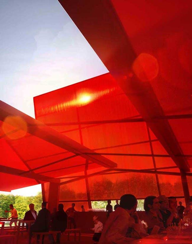 The 2010 Serpentine Pavilion by Jean Nouvel. Photo via architecturelab.net
