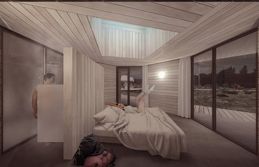 1st prize: Converse Guest House. Project author: Eric Gonzales | United States.