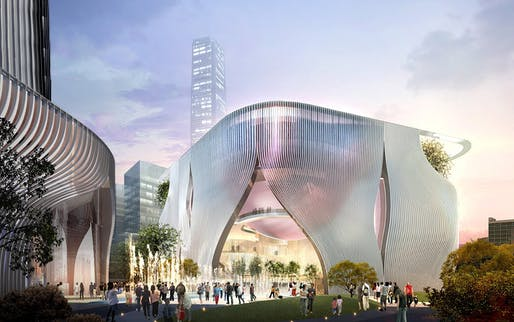 The upcoming Xiqu Opera Centre by Bing Thom + Ronald Lu. Image credit: West Kowloon Cultural District Authority.