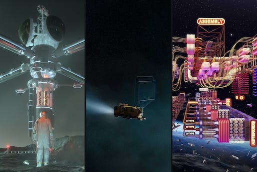 (L-R) Oracle by Wei Wu & Zhenyu Yang, Node 1 by Thanat Prathnadi & Joana Vilaça, and Garbage Man by Therese Leick and Wilhelm Scheruebl of TAB collective