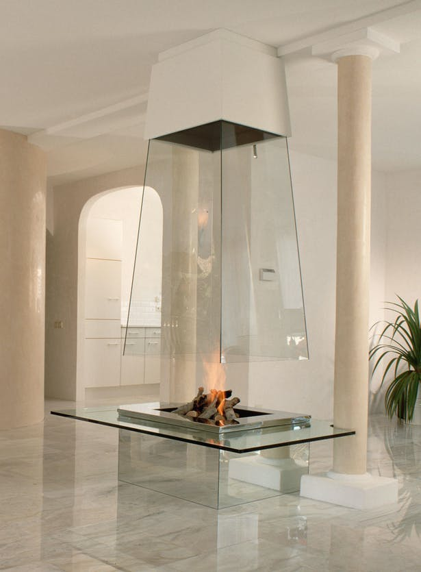 Bloch Design contemporary fireplace