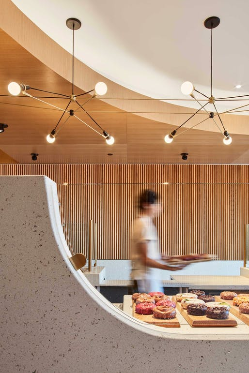 Honor Award, Café/Bar + People's Choice Award: Sidecar Doughnuts (Del Mar, California.) Designed by: Fleetwood Fernandez Architects. Photo: Benny Chan.