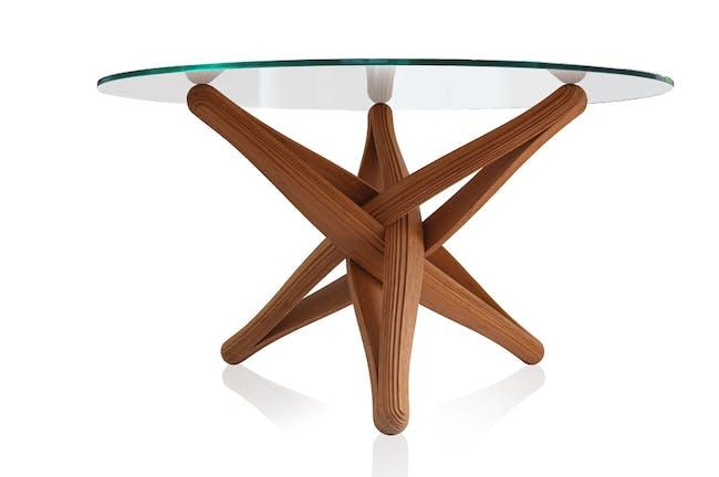 'LOCK'bamboo dinner-table by J.P.Meulendijks for PLANKTON